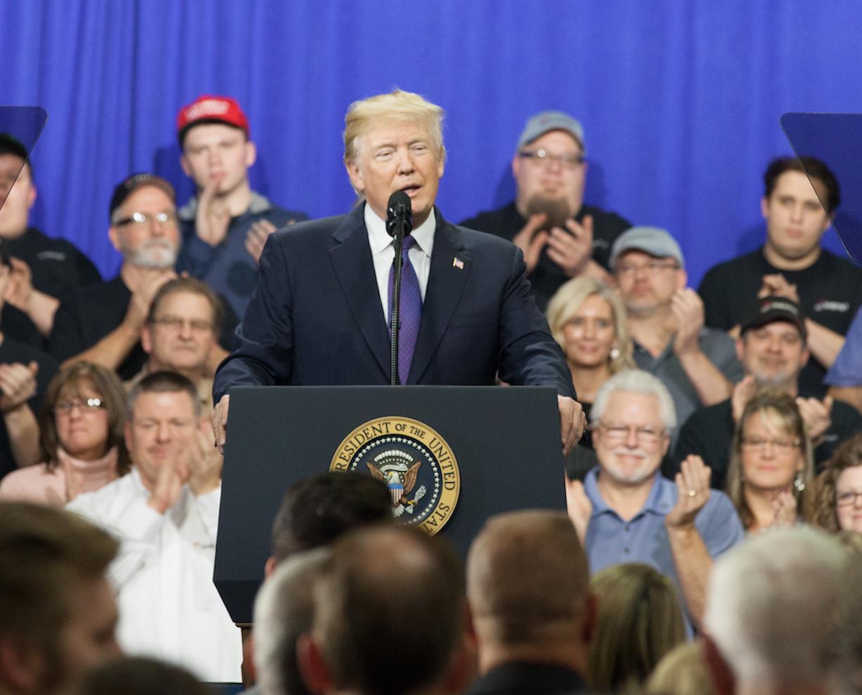 President Trump at Sheffer Corporation